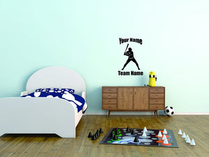 Baseball Player Custom Wall Decal 2