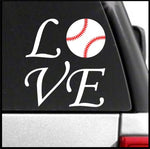 Love Baseball Decal