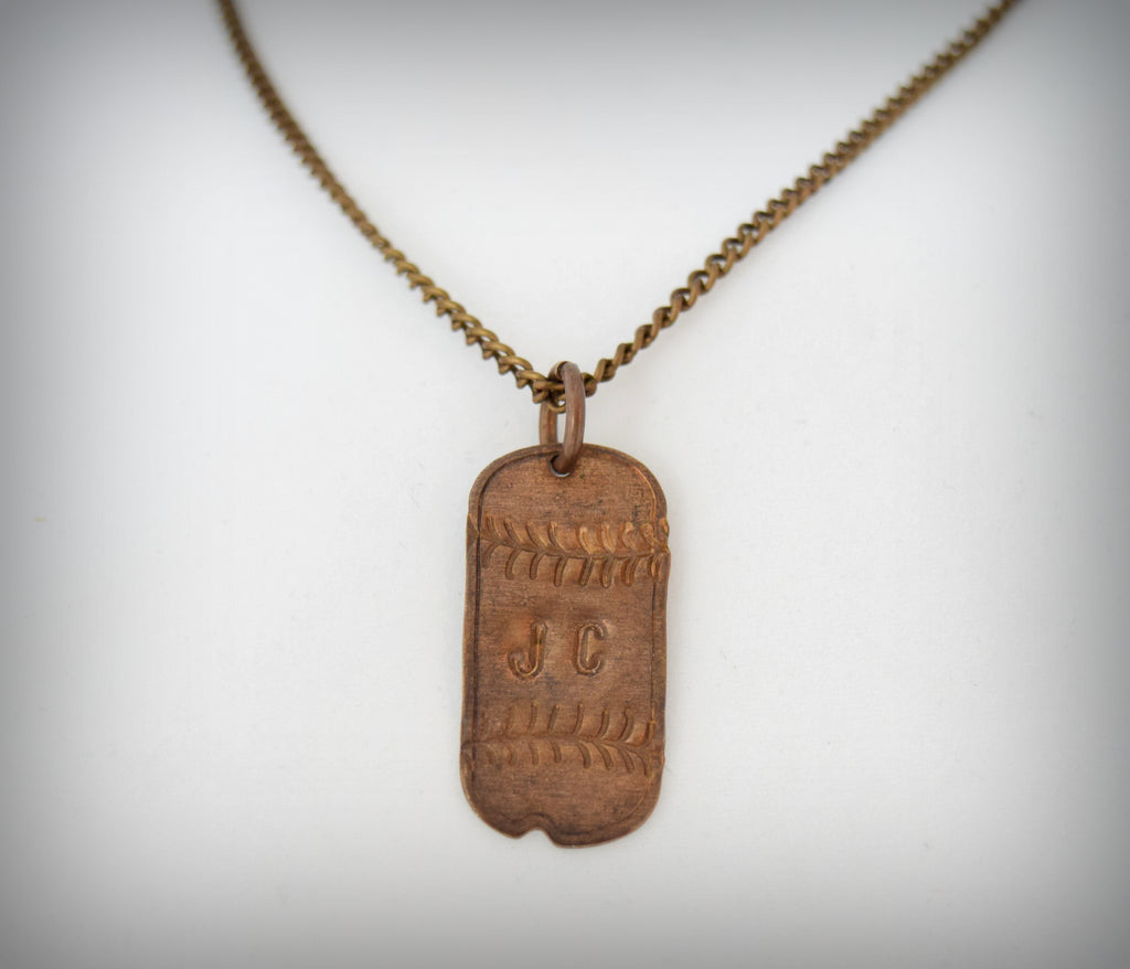 Vintage Mini Dog Tag Necklace