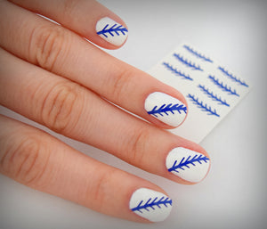 Baseball Nail Stickers (Blue)