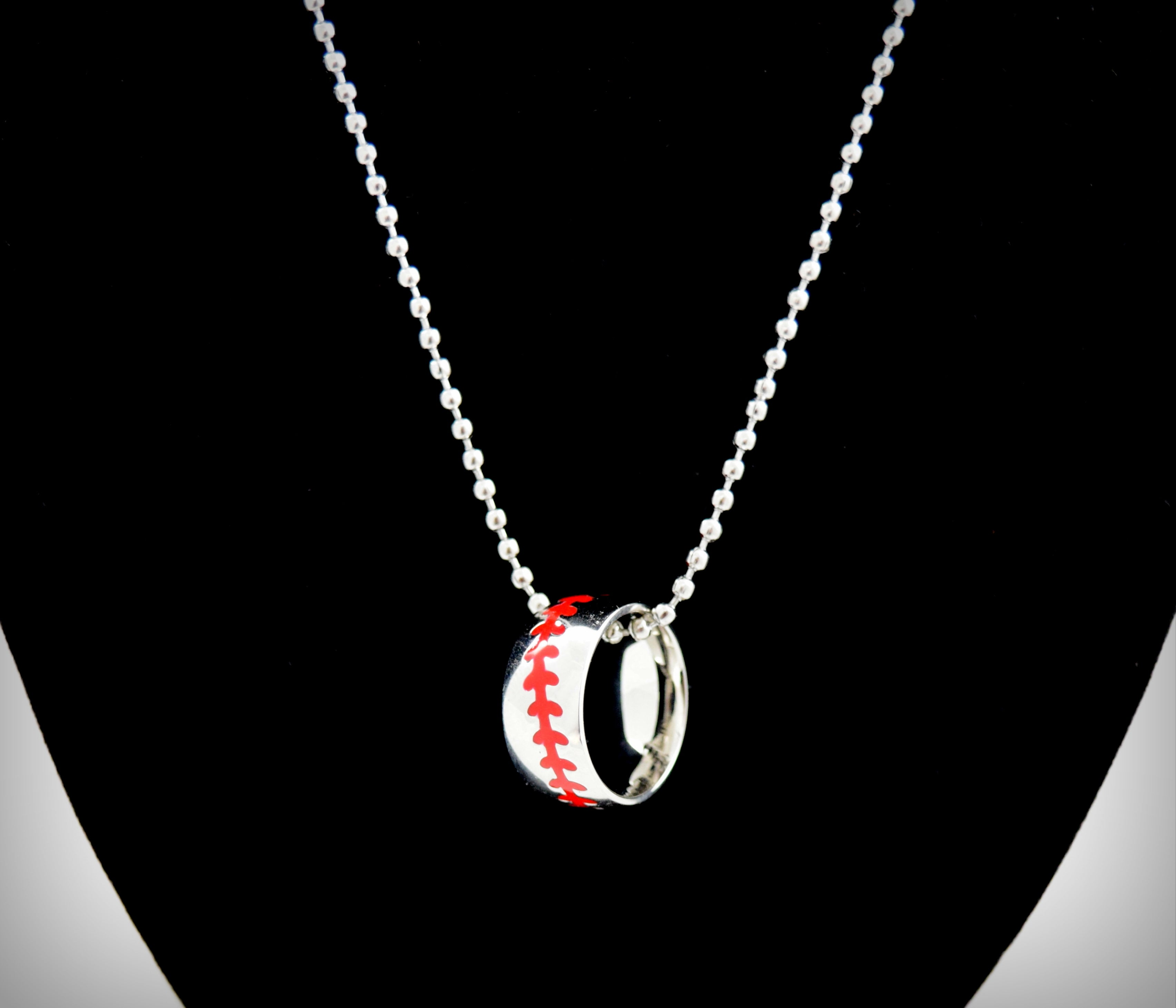 Baseball Player Ball Chain Necklace