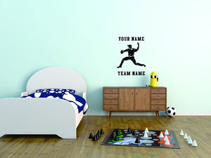 Baseball My Pitcher Wall Decal 3