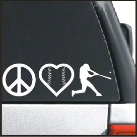 Peace Love Baseball Player