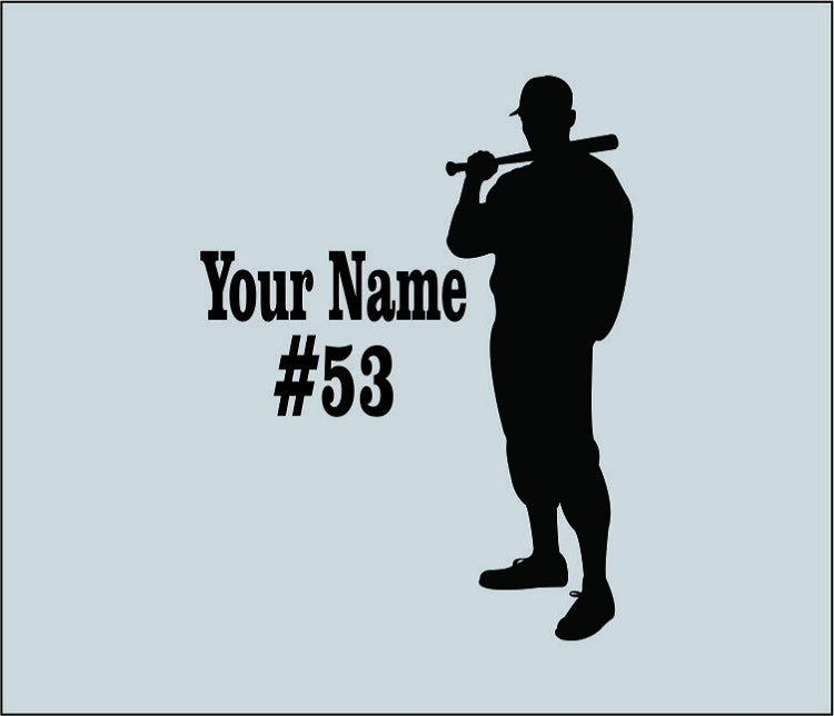 Baseball Player Standing Wall Decal