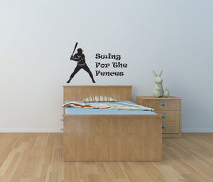 Baseball Swing Wall Decal