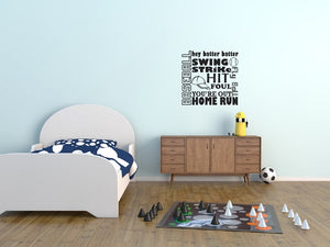 Baseball Terms Wall Decal