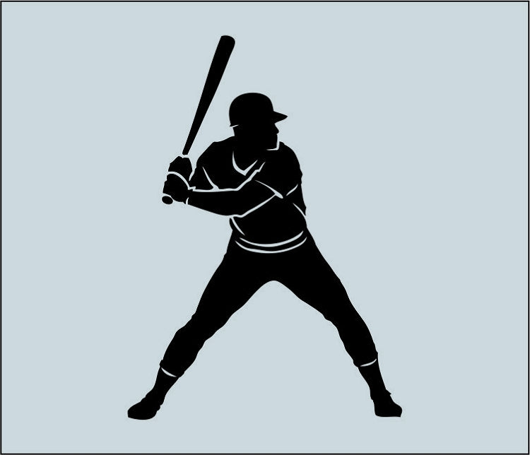 Baseball Player Wall Decal 2