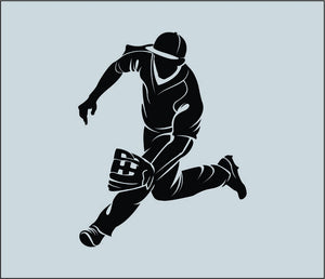 Baseball Player Wall Decal