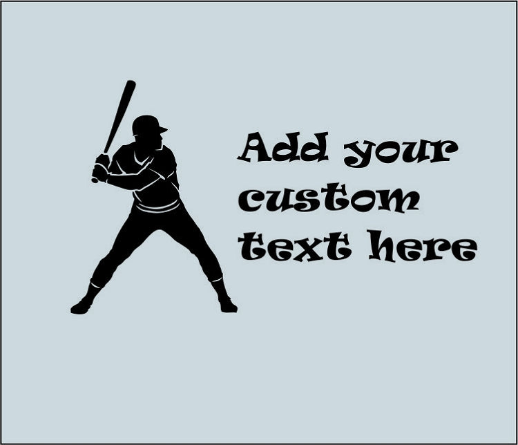 Baseball Player Custom Wall Decal