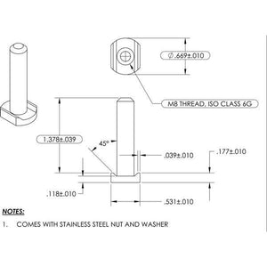 SX0121 Lip-Lok Bolt Assembly for SIGNFIX Channel Extrusion