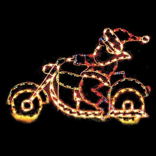 4-1/2' Santa Riding Motorcycle