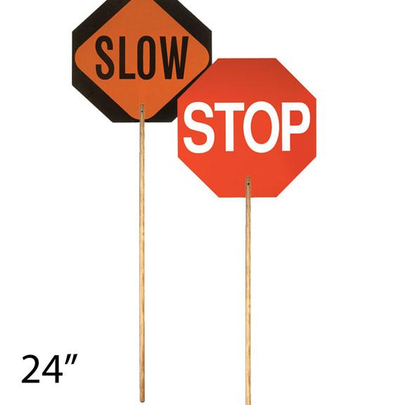 Hand Paddle - Stop/Slow 24