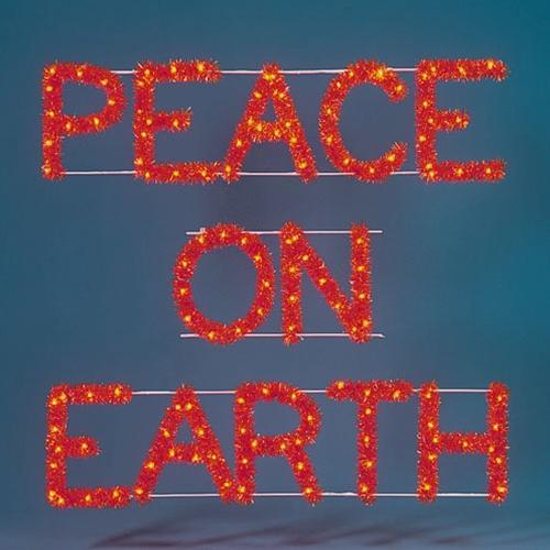 3' Peace On Earth Building Front Sign