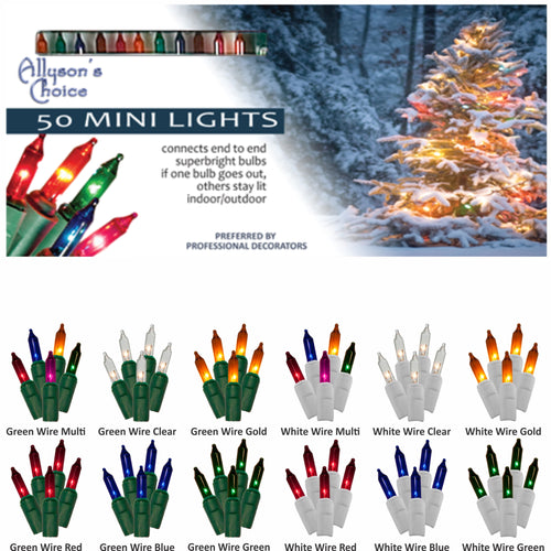 11-1/2ft Incandescent Mini Light Set 2.75