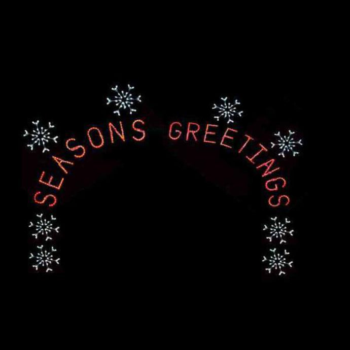 17' X 22' Snowflake and Seasons Greetings Silhouette Arch
