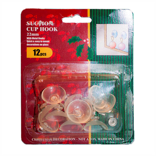 Suction Cup with Hook 22mm | 48pk