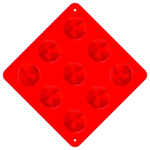 Type 1 Object Marker - Red with Plastic Circles