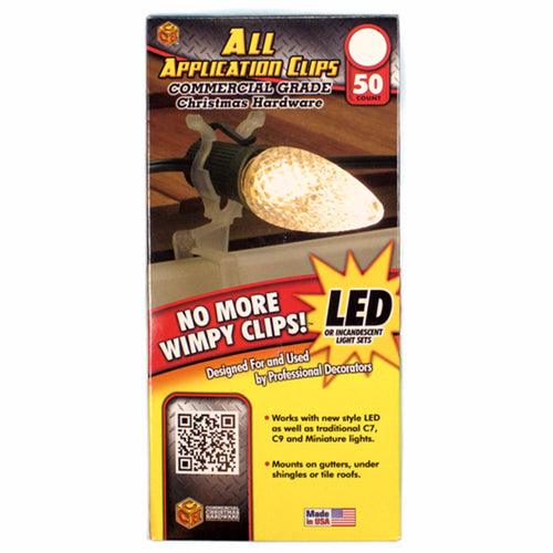Multi Application Light Clips - Commercial Grade | 50pk x's 12