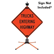 Load image into Gallery viewer, SZ-412-2S Double Spring Sign Stand for Rigid Signs