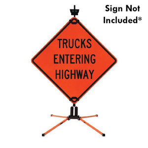 SZ-412-2S Double Spring Sign Stand for Rigid Signs