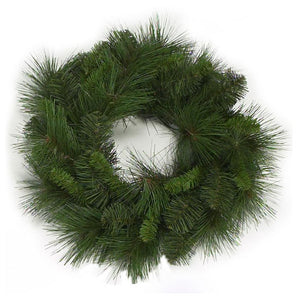 "15"" Mixed Pine Wreath or Candle Ring for 6"" Candle  
