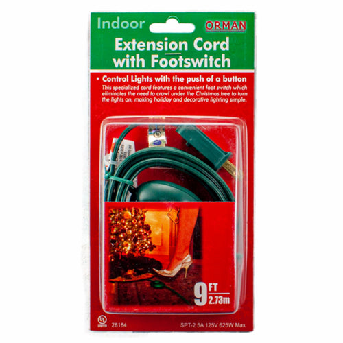 9 FT Extension Cord with Footswitch, (PK-6)