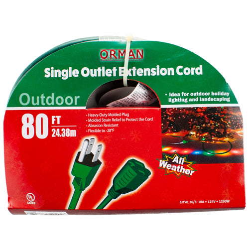 80 ft Single Outlet Extension Cord