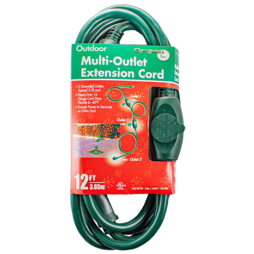 Multi-Outlet Outdoor Extension Cord