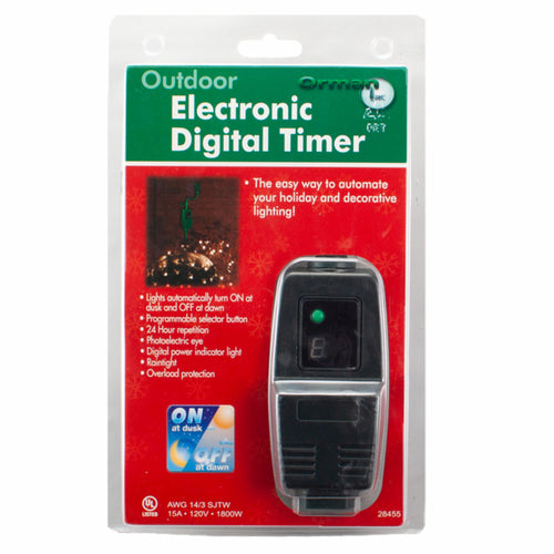 Electronic Digital Photocell Timer, (PK-6)
