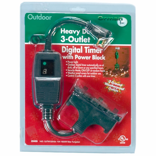 Digital Outdoor Timer with Power Block (PK-6)