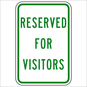 Reserved For Visitors