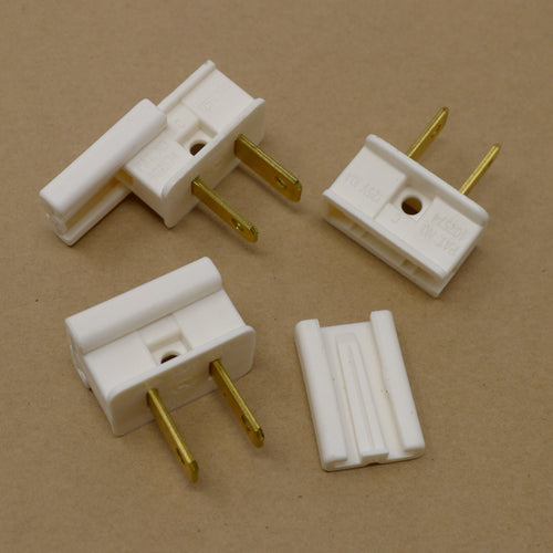 Male Plug Connector - White | PK-25