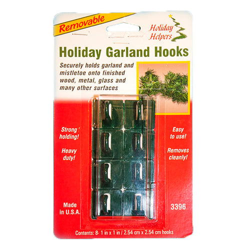 Holiday Garland Hooks, Adhesive | 12pk