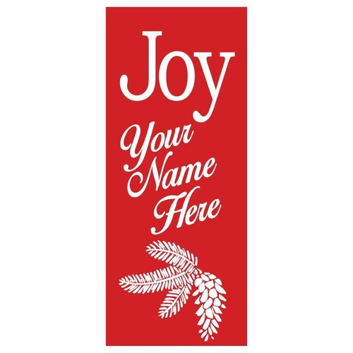personalized Joy Banner