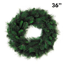 "Load image into Gallery viewer, 36"" Mixed Pine Christmas Wreath, 153 Tip 