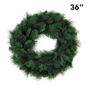 "36"" Mixed Pine Christmas Wreath, 153 Tip 