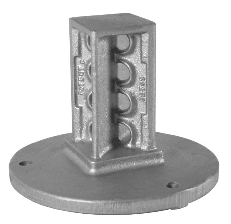 Square Sign Post Surface Mount Coupler