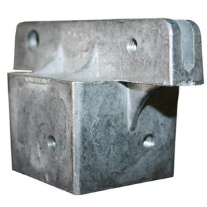 "Square Post Cap Bracket - 1-3/4"" Flat"