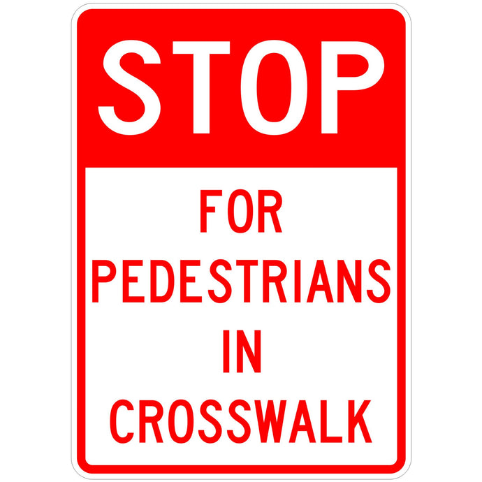 Stop for Pedestrians in Crosswalk