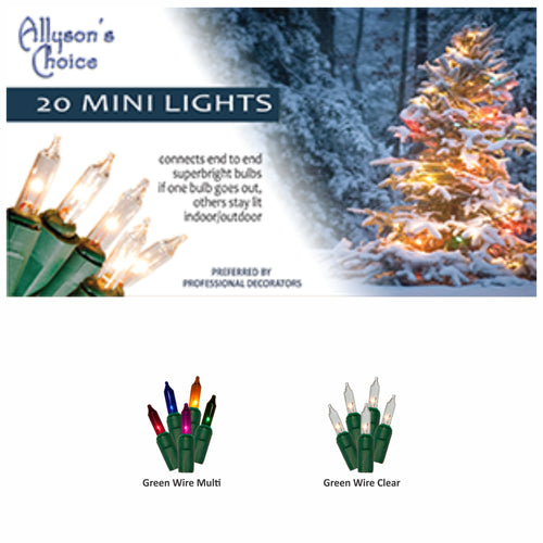 5-5/6ft Incandescent Mini Light Set 3.5