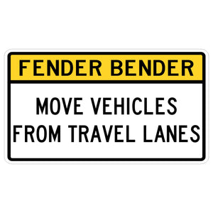 Fender Bender Move Vehicles From Travel Lanes