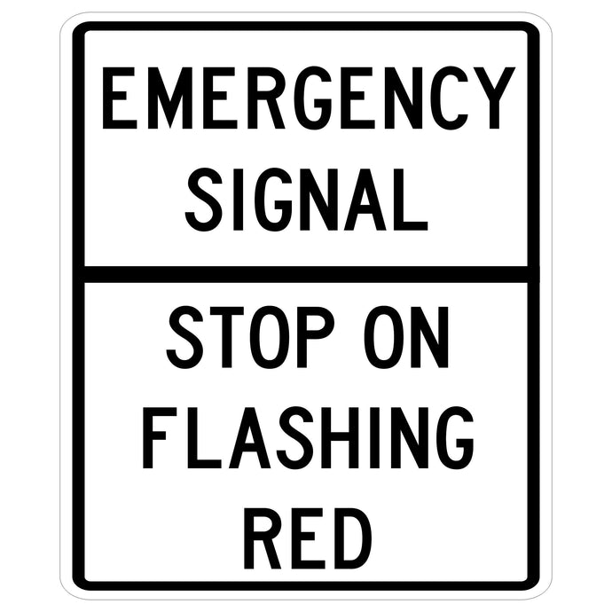 Emergency Signal Stop on Flashing Red
