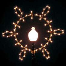 Load image into Gallery viewer, 6' Lamp Post Silhouette Tear Drop Snowflake