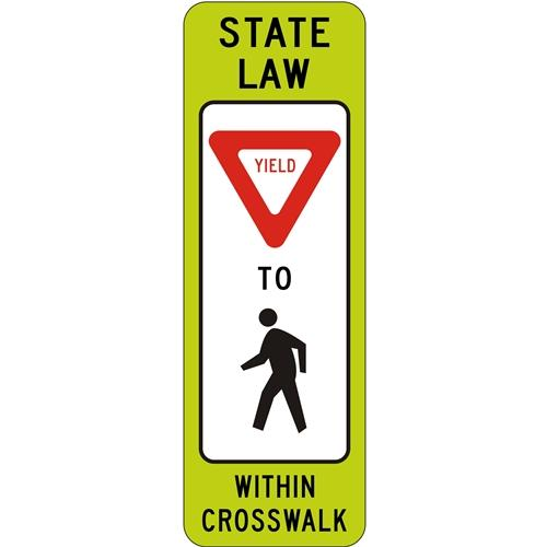 State Law Yield To Pedestrians Within Crosswalk