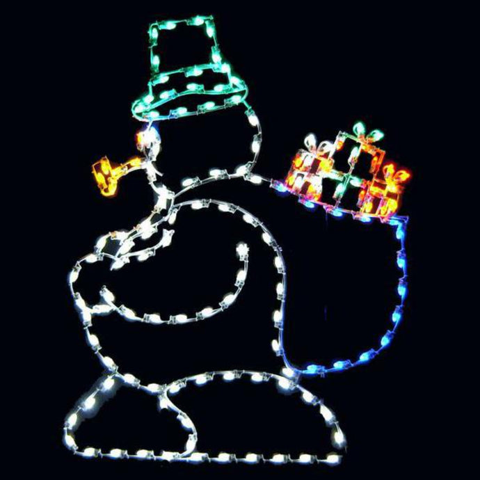 6' Silhouette Snowman with Bag