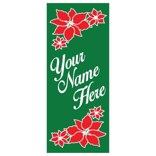 personalized Poisetta Banner