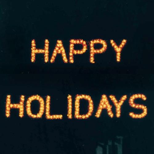 3' Happy Holidays Building Front Sign