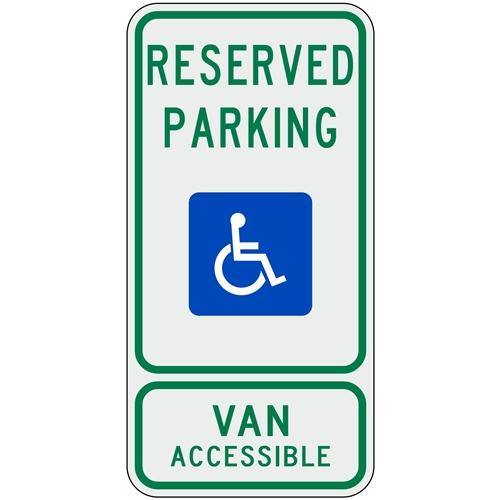 Texas Handicap Parking Sign