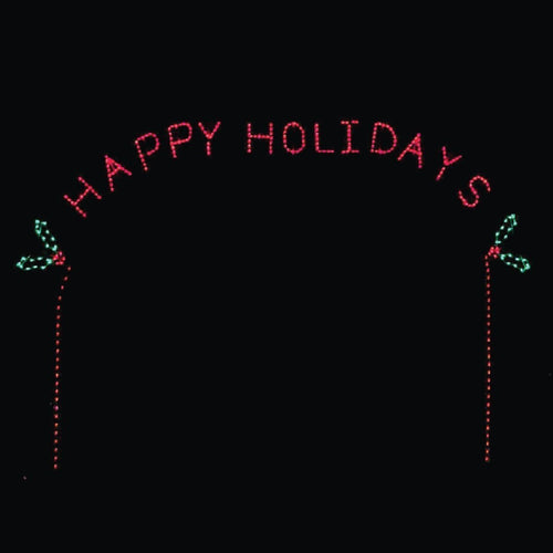 17' x 22' Happy Holidays Arch