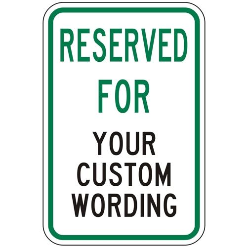 Reserved For (Custom Wording)